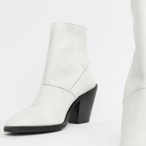 f62190a1571 ASOS DESIGN Elexis Leather Ankle Sock Boot